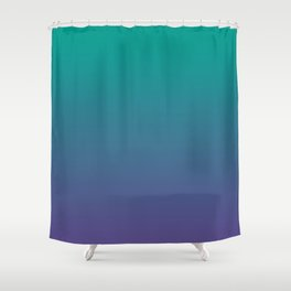 Bright Green Ultra Violet Gradient | Pantone Color of the year 2018 Shower Curtain