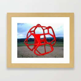 Red Sphere - Sculpture Implants Series Framed Art Print