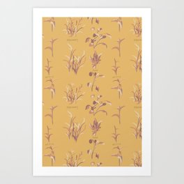 Rosemary, Sage, and Nettle. in Gold Art Print