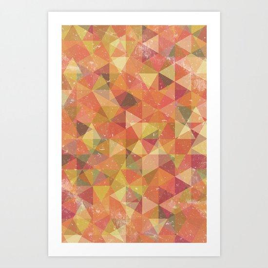 Triangle Pattern III Art Print