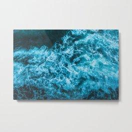 choppy  blue waters Metal Print