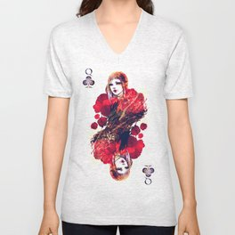 Queen of Clubs Unisex V-Neck
