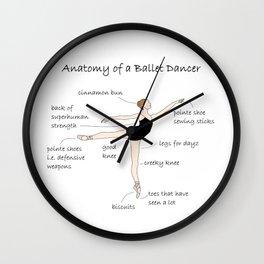 Anatomy of a Ballet Dancer Wall Clock