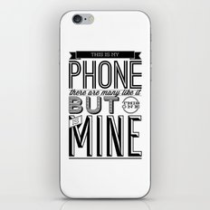 This is mine iPhone & iPod Skin