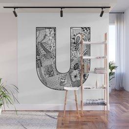 Cutout Letter U Wall Mural