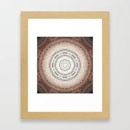 Vintage Ancient Words Mandala Framed Art Print