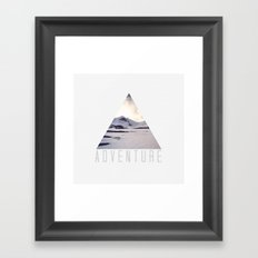 mountain adventure Framed Art Print