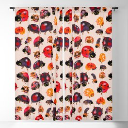 Lady beetles Blackout Curtain
