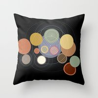 drums Throw Pillows featuring drums by WilliamBee
