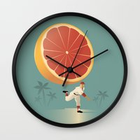 league Wall Clocks featuring Grapefruit League by John W. Tomac