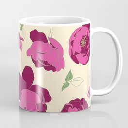 English Roses in Pink and Cream Coffee Mug