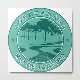 Copacabana beach, green circle, Rio de Janeiro, Brazil Metal Print