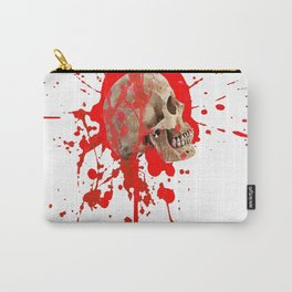 WHITE RED EXPLODING BLOODY SKULL HALLOWEEN  ART Carry-All Pouch