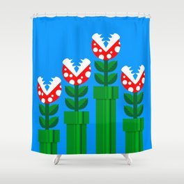 Carnivorous Plant Shower Curtain