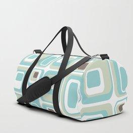 Retro Rectangles Mid Century Modern Geometric Vintage Style Duffle Bag