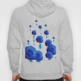 DRIPPING WET BLUE ROSES  DESIGN Hoody