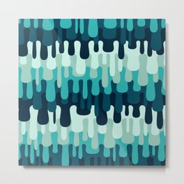 Funny Liquid Abstract Colorful Pattern 0 0 7 Metal Print