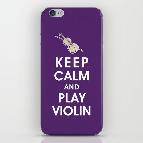 Keep Calm and Play Violin iPhone & iPod Skin