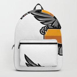 Owl Holding Banner Mascot Backpack