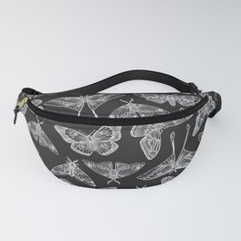 Lepidoptera Black & White Fanny Pack