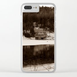 Walking on Thin Ice Clear iPhone Case
