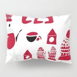 winter gear white Pillow Sham