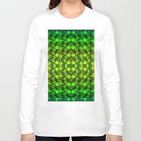 green pattern Long Sleeve T-shirts featuring Green pattern. by Assiyam