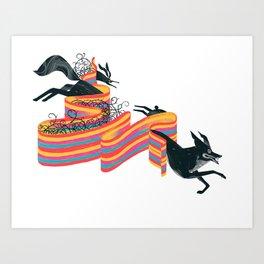 Brer Rabbit X Holographic Multiverse Art Print