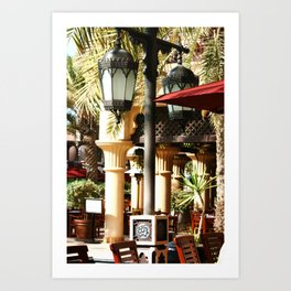 Dubai Lamps outside Burj Al Arab Art Print