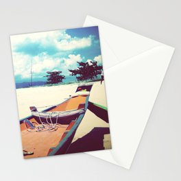 Longboat on the Shore, Thailand Stationery Cards