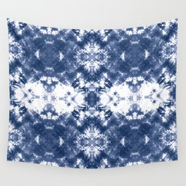 Shibori Tie Dye Indigo Blue Wall Tapestry