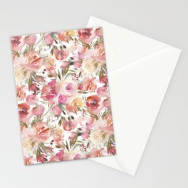 Dreamy Pastel Pink and Cream Blossom  Stationery Cards
