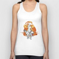 dinosaurs Tank Tops featuring Dinosaurs Girl by Forlife Illustration