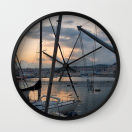Nautical Sunset in Italy Wall Clock