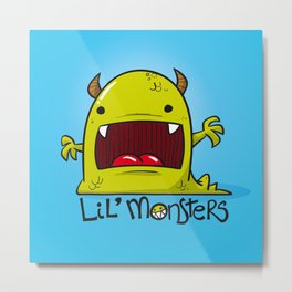Lil' Monster Green Metal Print