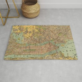 Vintage Map of New York City (1913) Rug