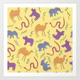 Animal colorfulness Art Print
