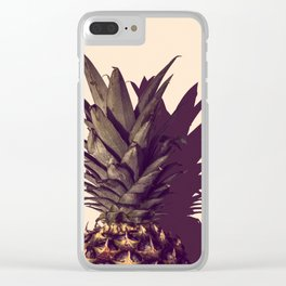 Pineapple and Shadow Clear iPhone Case