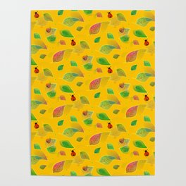 Autumn And Ladybugs - Nature Poster