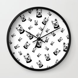 French Bulldog, Frenchie Dog GIFTS FROM MONOFACES FOR YOU IN 2020 Wall Clock