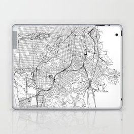 San Francisco White Map Laptop & iPad Skin