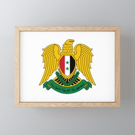 Coat of Arms of Syria Framed Mini Art Print