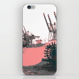 paddle wheel in hamburg iPhone Skin