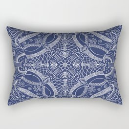 Doodles & Bits Lacy Blue Bandana Rectangular Pillow