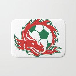 Welsh Dragon Soccer Ball Bath Mat