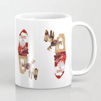 santa Mugs featuring Santa by Benedikte