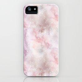 Mauve pink lilac white watercolor paint splatters iPhone Case