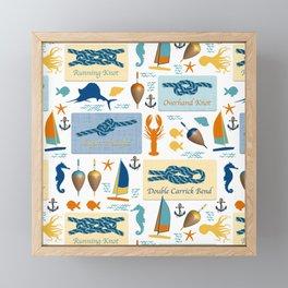 Nautical Knots Framed Mini Art Print