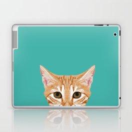 Tabby orange cat head cat breed gifts cute tabby cats must haves Laptop & iPad Skin