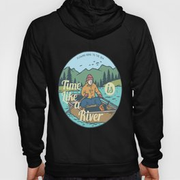 River Boat for people who like cool chill designs  Hoody